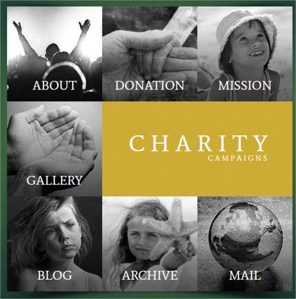 non profit charities website design