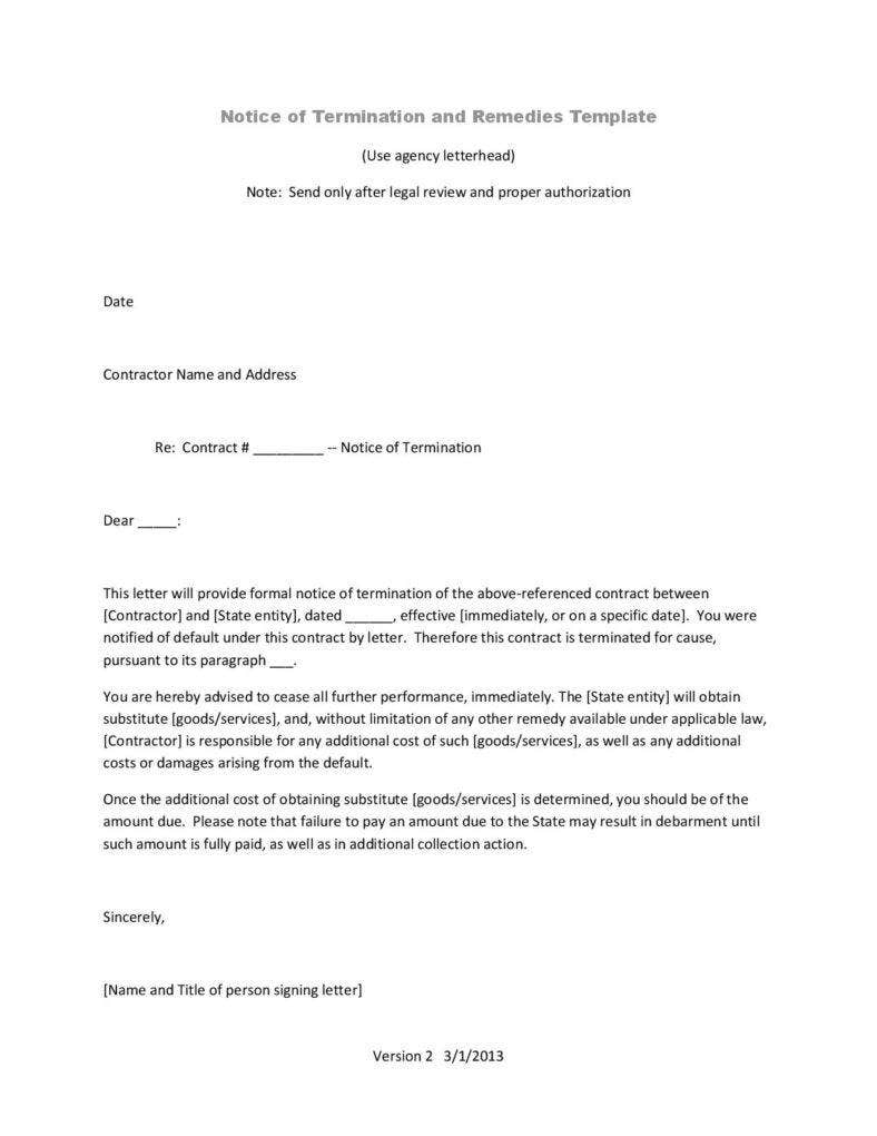 Business Termination Letters  Free Word Pdf Excel Format