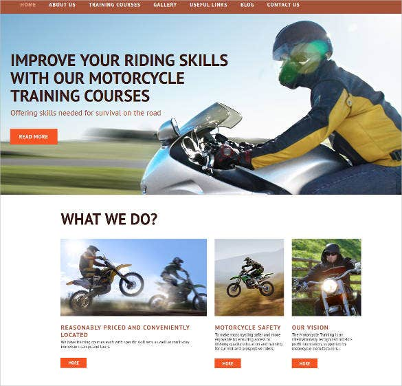 online driving school website theme