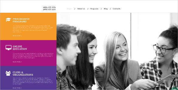 online university website design