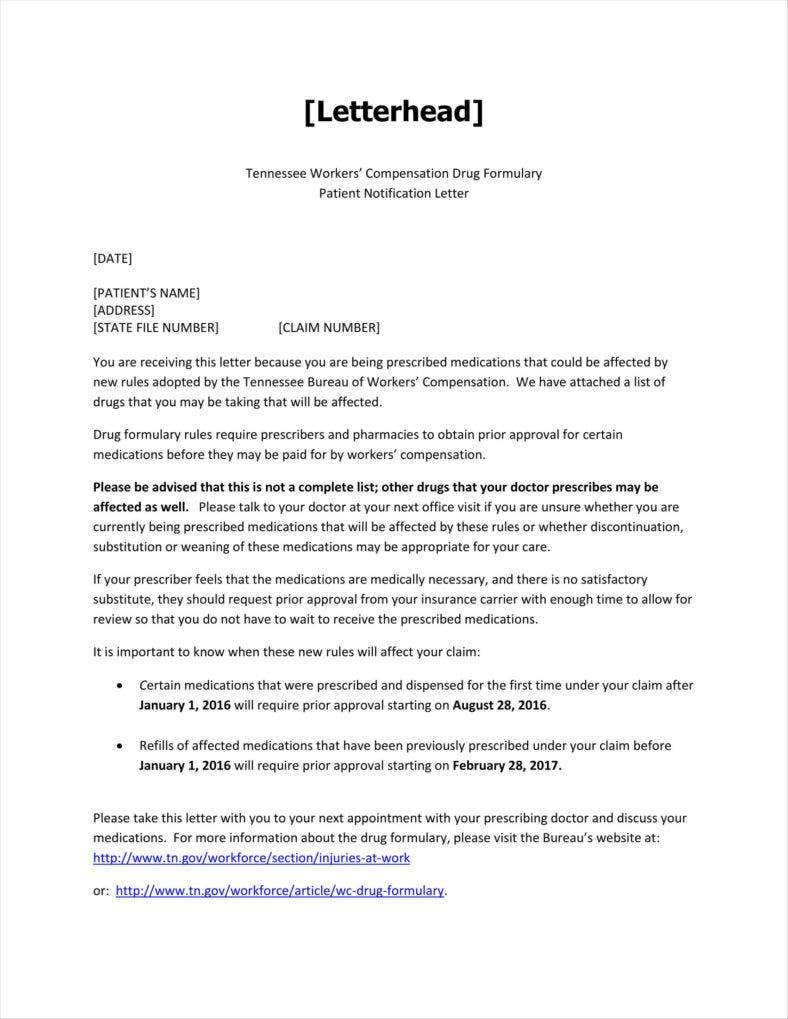 Patient_Notification_example-11-788x1019 Official Letter Template Word on how find, for cover, teaching application cover, free personal, formal resignation, job cover, interview thank you, simple business,