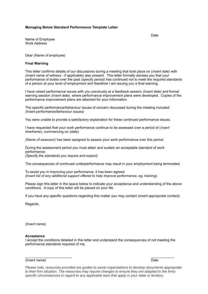 poor staff performance warning letter in doc 1 788x1115