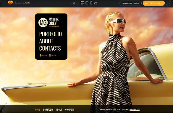 portfolio photography website theme