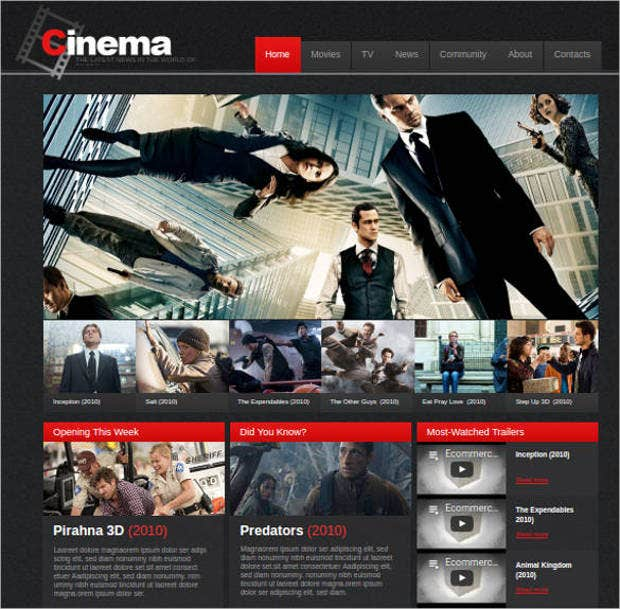 premium cinema news website template1