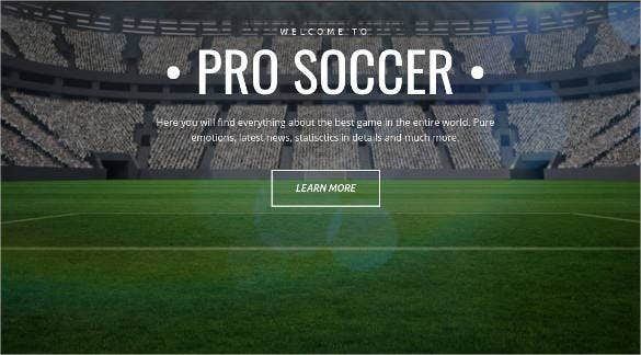 pro soccer premium moto cms website