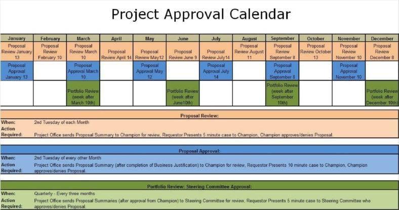 9 Construction Calendar Templates Free Pdf Format