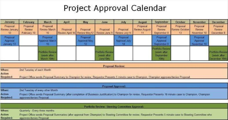 project approval calendar template 13 788x414