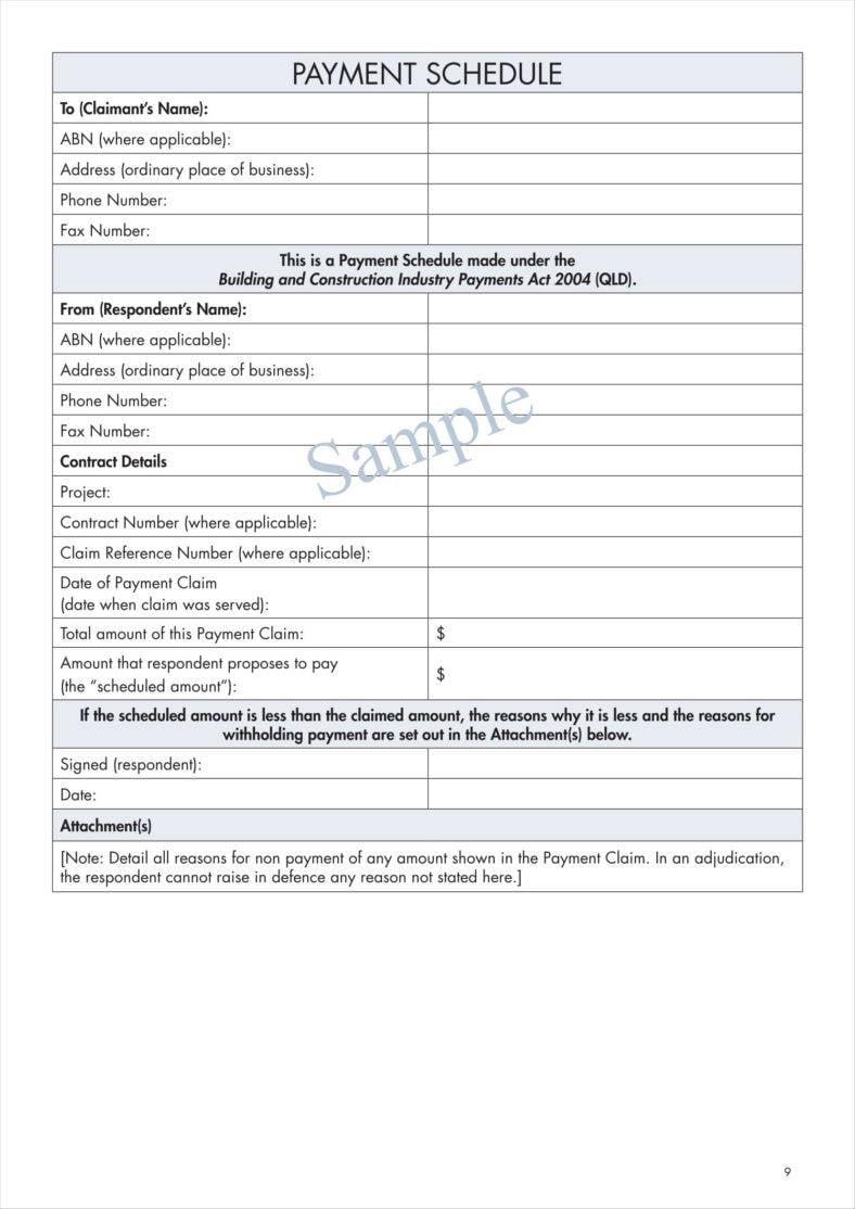 9 construction calendar templates free pdf format for Construction disbursement schedule