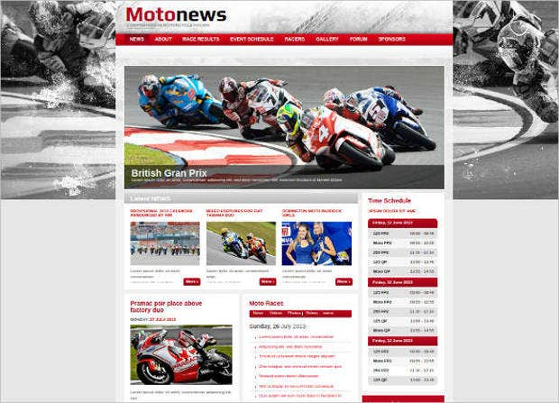 racing news website theme1