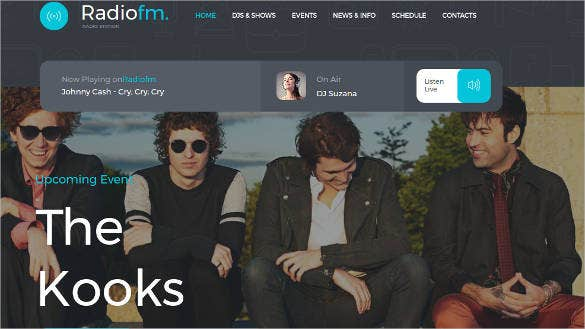 radio fm station html website template
