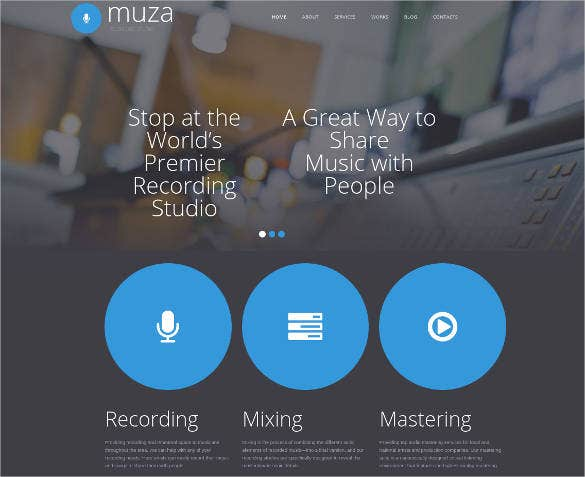 radio recording studio website design