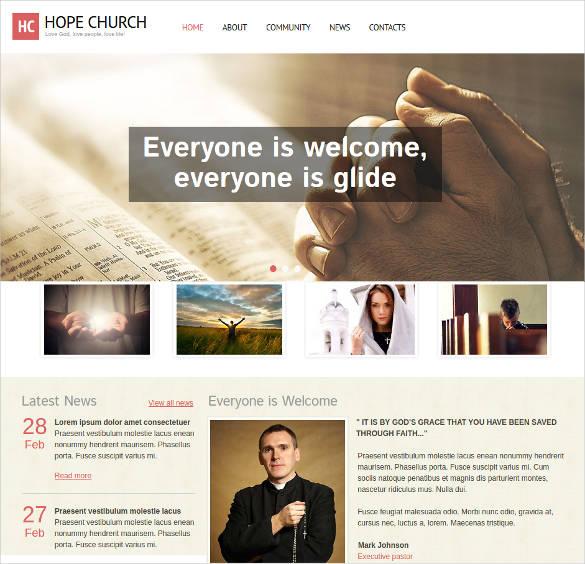 religious website design template