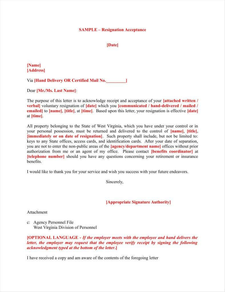 9  free receipt acknowledgment letters word  pdf  excel