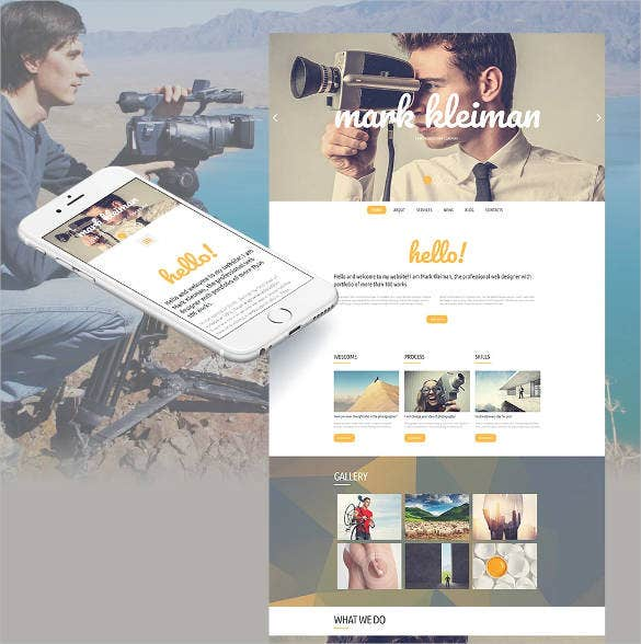 responsive camera video website template