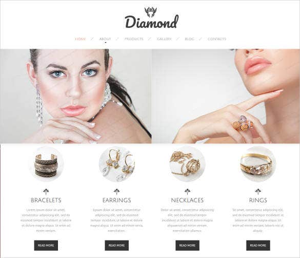responsive jewelry website template