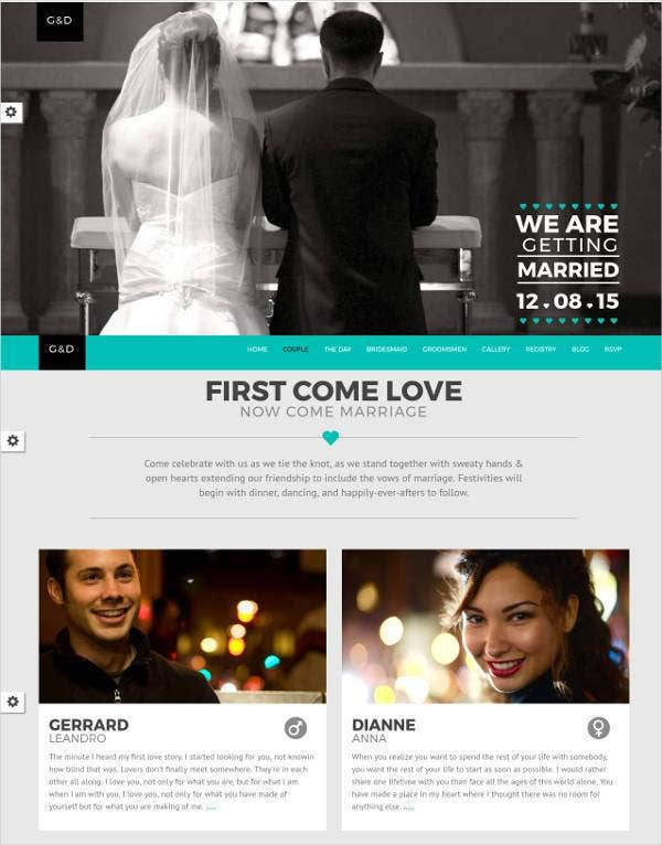 Thinking Of Designing A Pre Wedding Website With Clean Responsive And Simple Design This One Page Html Template Seems To Be Just The Right