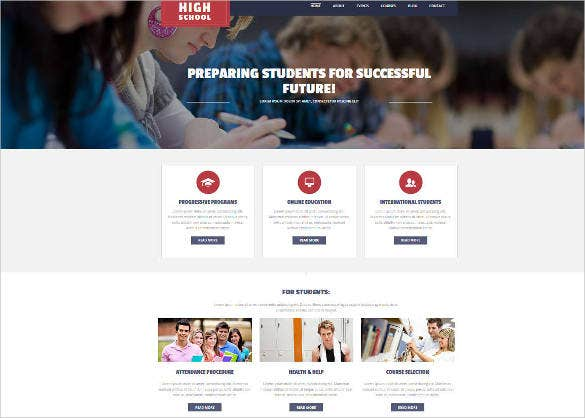 responsive school website theme1