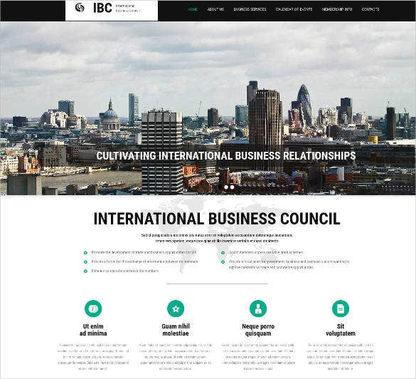 responsive website design for business company