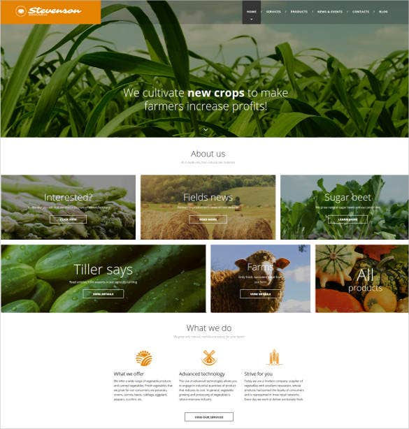 responsive website template for crop