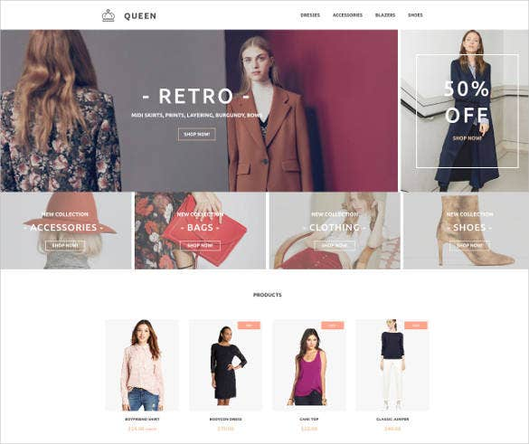 Retro Fashion Cloth Website Template