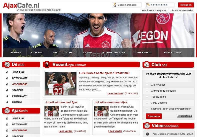 retro soccer club website template 788x547