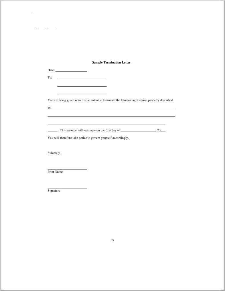 sample lease termination letter free download page 002 788x1017