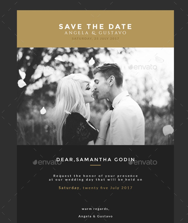 Save The Date Email Invitation