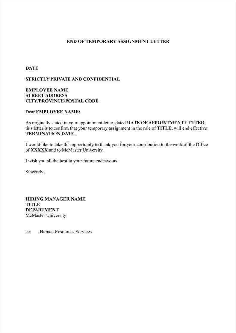 seasonal job termination letter to employee word format 2 788x1114