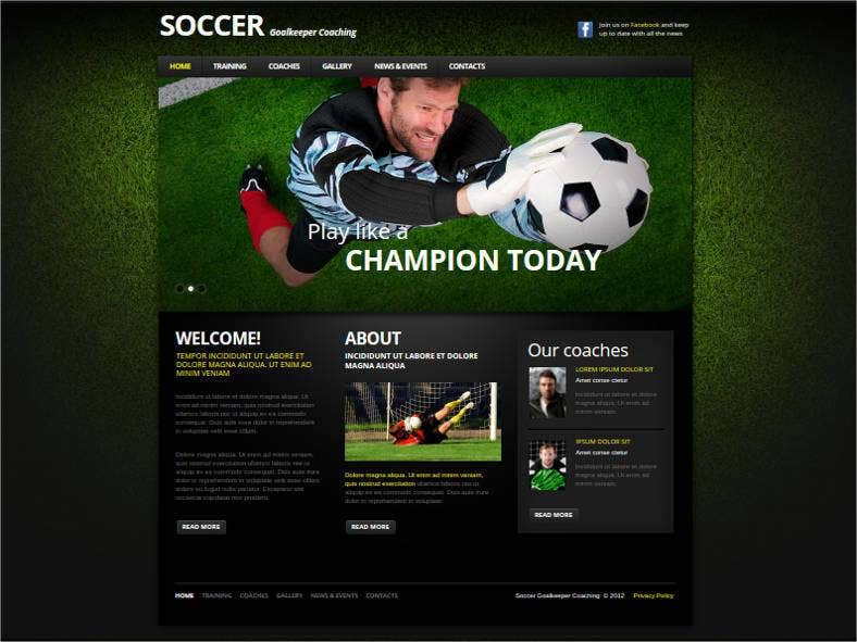 soccer website theme template 788x591