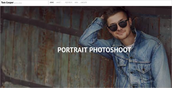 studio portfolio photoshoot website design
