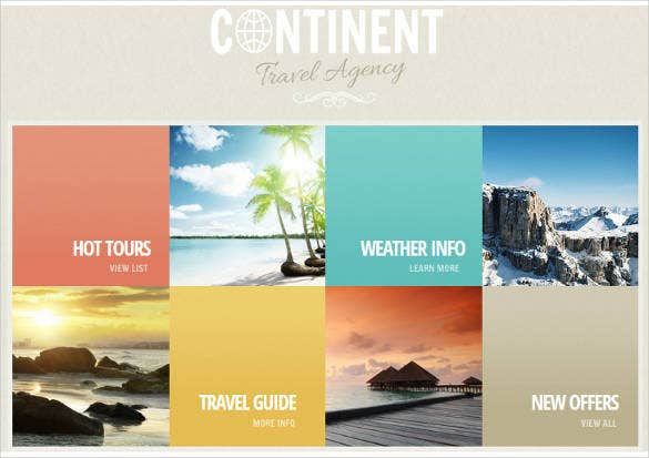 summer tour website theme and template
