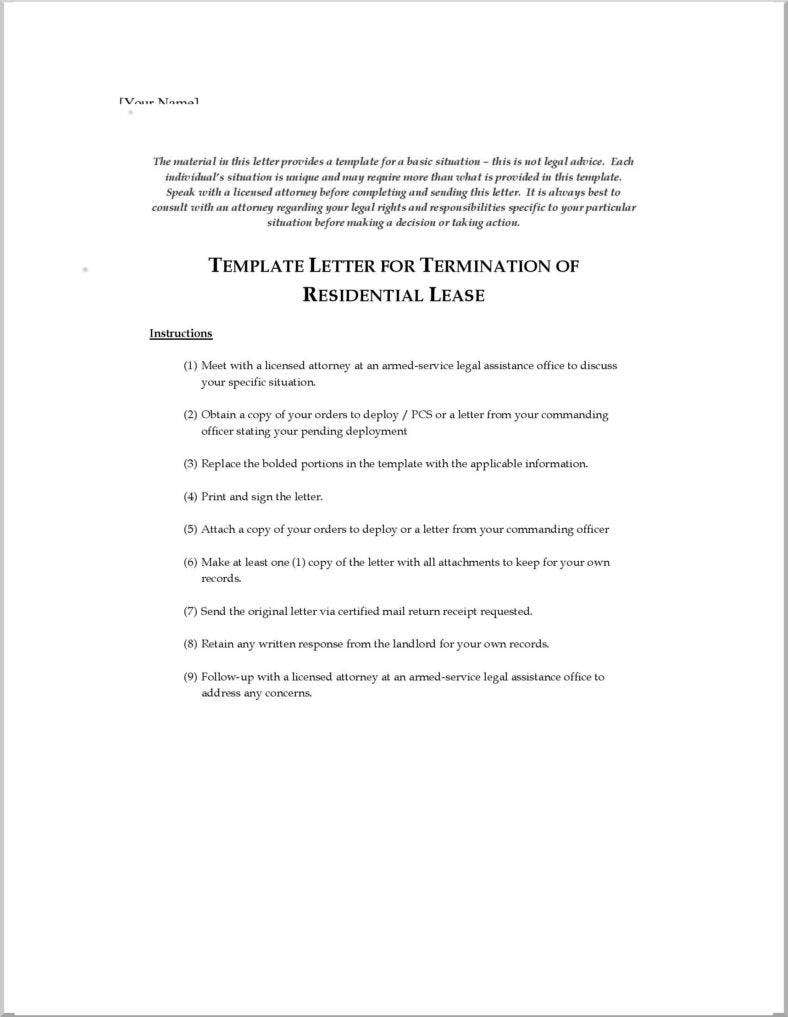 Termination Letters  No Free Word Pdf Excel Format Download