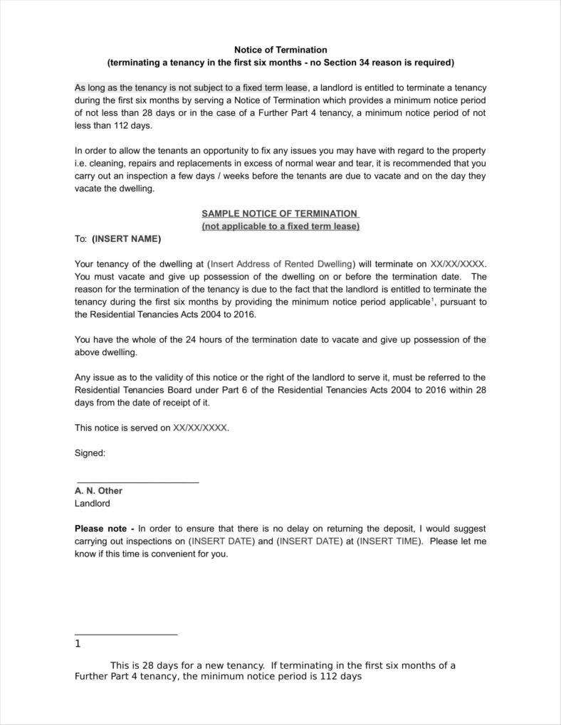 20 agreement termination letters free word pdf excel format download free premium templates