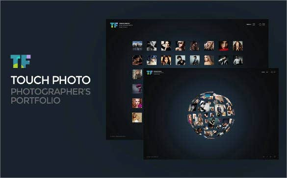 touch 3d photo website template