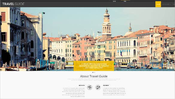 tour and travel guide template