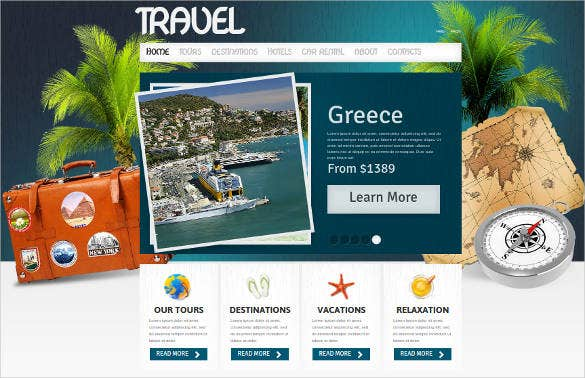 travel and tourism business website template