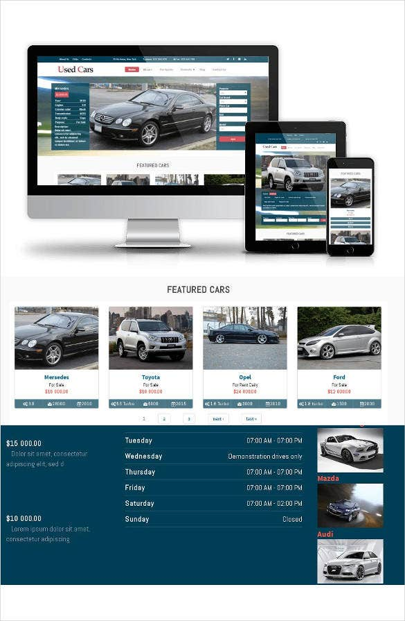 used drupal car theme