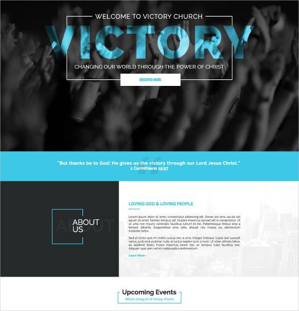 victory church website theme