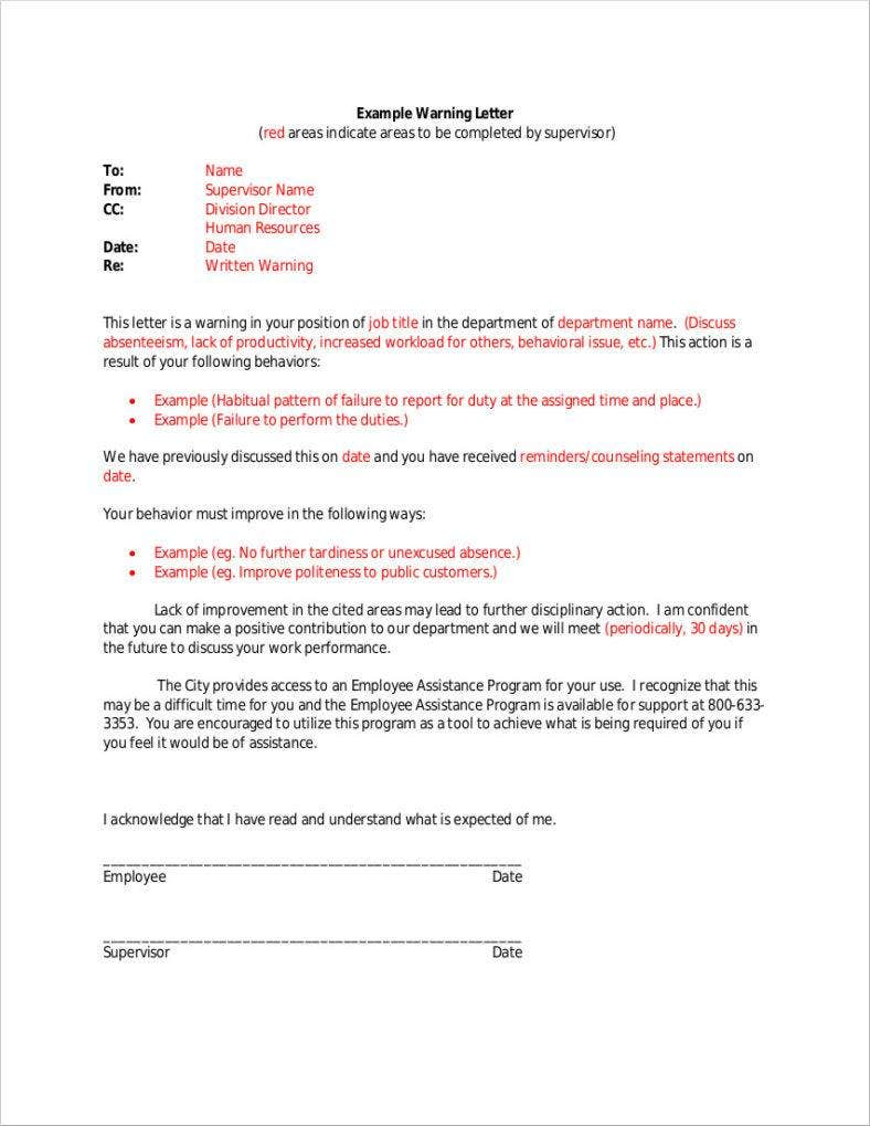warning-letter-template-pdf