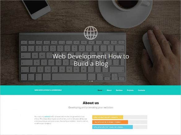 web developing bootstrap website template