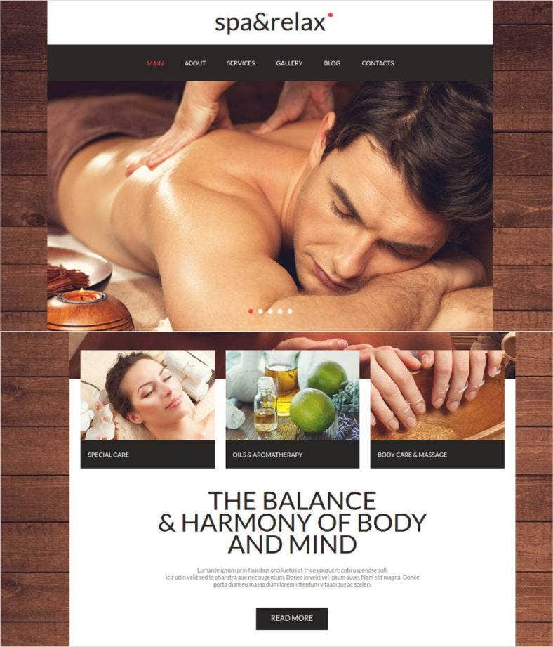 website design for salon spa relax 788x921