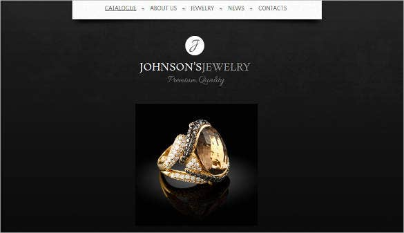 Website-Template-for-Jewelry-Showcase Newsletter Templates In Word on free real estate, how make, patriotic free,