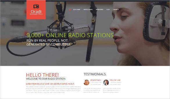 website template for radio station