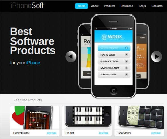 website template for software developer