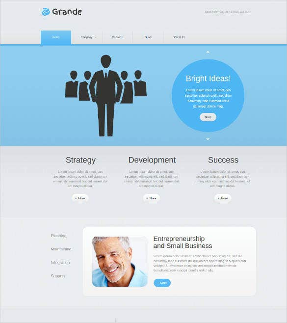 website template with jquery for business