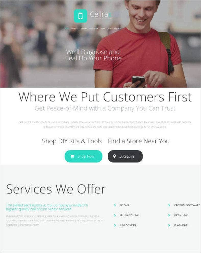 website theme for mobile phone electronic repair service1 788x990