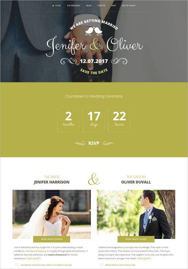 wedding bells responsive css wedding website template