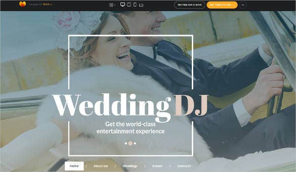 wedding event dj html website template1