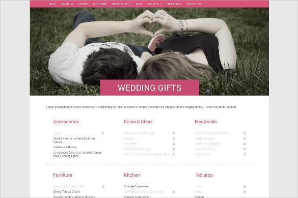 wedding html website template