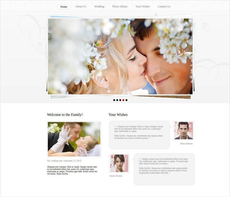 wedding photo gallery web template 788x675